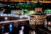 Untertorbruecke bridge at night, Bern, Switzerland — Stock Photo