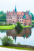 Castle and lake — Stock Photo