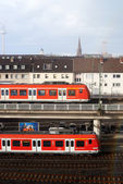 Trains on station — Foto Stock