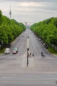 Wide Berlin street Germany — Stock Photo