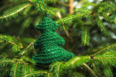 Knitted Chrismas toys — Stock Photo