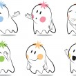 Funny baby ghost - Stock Vector