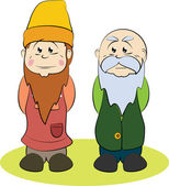 Two gnomes — Stock Vector