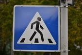 过境道路标志 — 图库照片