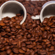 Cup of coffee beans - Stock Photo