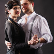 Dancing couple in love, retro — Stock Photo