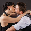 Stock Photo: Kiss, romance