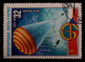 Stamps, USSR, International space flight — Stockfoto