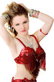 Girl in costume for dancing — Stock Photo