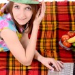 Girl on picnic  — Stock Photo