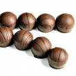 Sweets chocolate line bonbon comfit   sweet   goody-goody double Line — Stock Photo