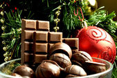 Christmas sweets Christmas chocolate new year taste chocolate gift chocolate — Stock Photo