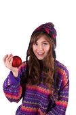 Girl holding a ball — Stock Photo