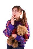 喫煙の赤ちゃん — ストック写真