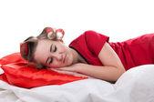 Girl sleeps — Stock Photo