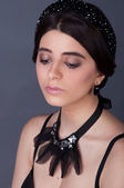 Girl model in Accessories — Stock Photo