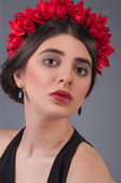Girl model in Accessories — Стоковое фото