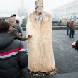 Stock Photo: Wooden figure of Taras Shevchenko. Euromaidan. Ukrainiprotests 2014