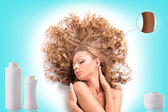Beautiful healthy hair — Stock Photo