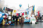 Maidan Nezalezhnosti , Euromaidan. Ukrainian protests 2014 — Stock Photo