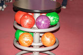 Colorful bowling balls — Foto de Stock