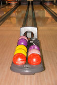 Colorful bowling balls — Stockfoto