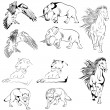 Collection of Animals - Imagen vectorial