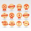 Collection of Labels — Stock Vector