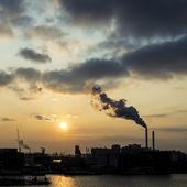 Industrial sunset — Stock Photo