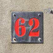 Číslo 62 — Stock fotografie