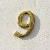 Nr. 9 — Stockfoto