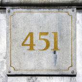 Nr. 451 — Zdjęcie stockowe