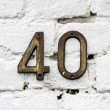 House number 40 - Stock Photo