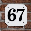 House number 67 — Stock Photo