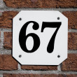 House number 67 — Stock Photo #23198280