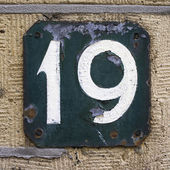 House number 19 — Stock Photo