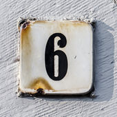 House number 6 — Stock Photo