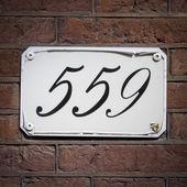 Husnummer 559 — Stockfoto