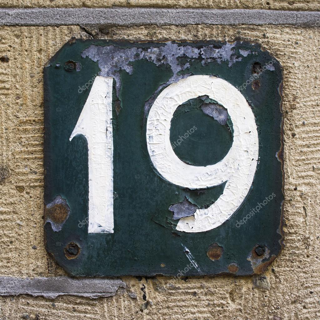 House number 19 stock photo papparaffie 23197576 for Number 16 house