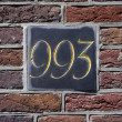 House number 993 — Stock Photo