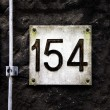 House number 154 - Stock Photo