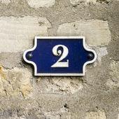 Hausnummer 2 — Stockfoto