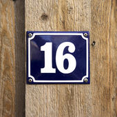 House number 16 — Stock Photo