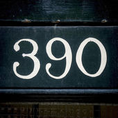 House number 390 — Stock Photo