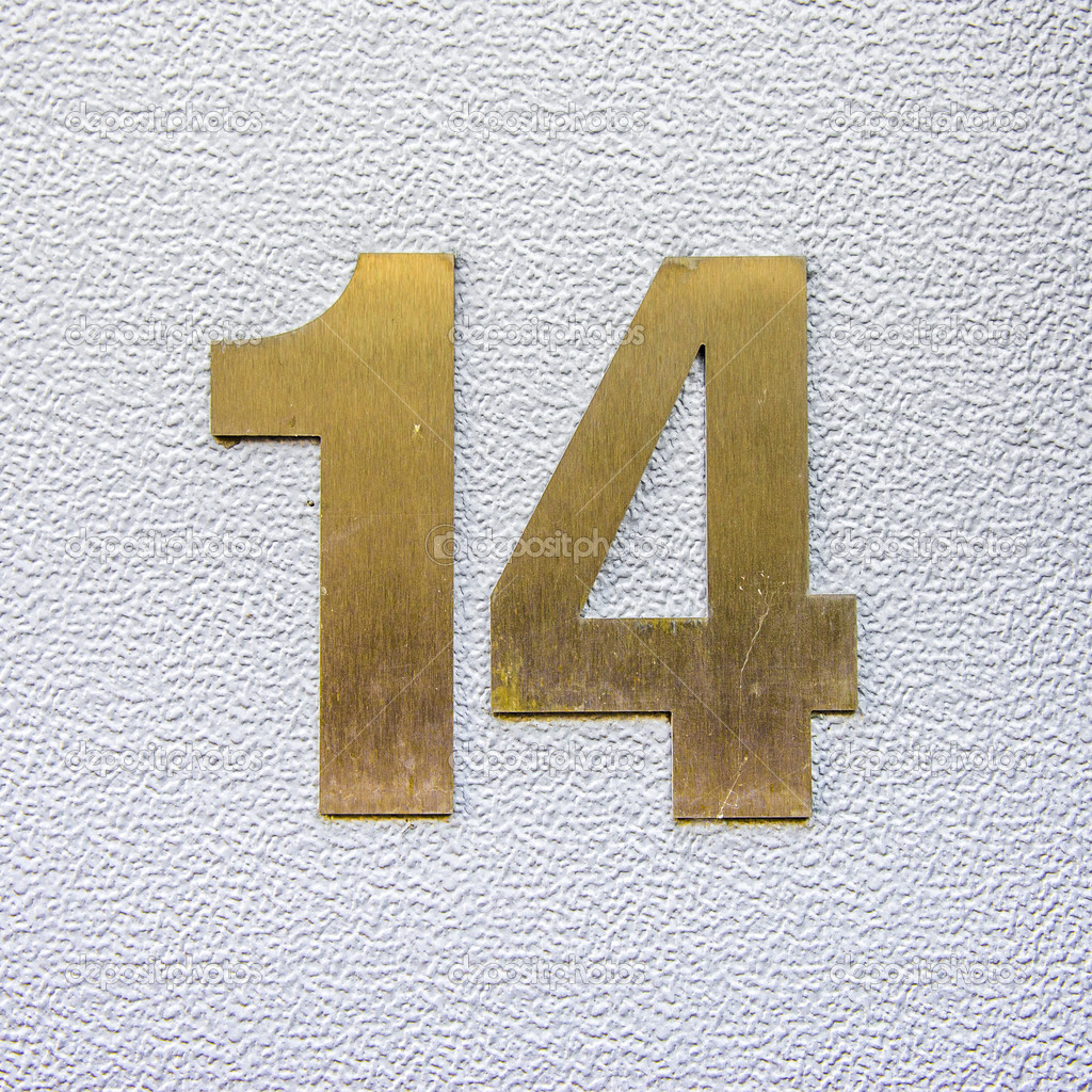 Stock Photo House Number 14