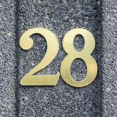 Number 28 — Стоковое фото