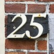 House number twenty five — Stock Photo #41787331