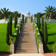 Royalty-Free Stock Photo: Bahai Gardens in Haifa, Israel, with an overview of Haifa Mount Carmel, Mount Carmel
