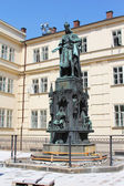 Bronze Statue of the King Charles IV. in Prague — Stock Photo