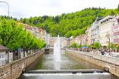 Spa Karlovy Vary , Tepla river — Stock Photo